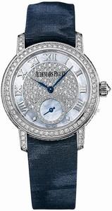 Audemars Piguet Jules Audemars Lady (WG-Diamonds / MOP-Diamonds / Blue Satin Strap) 77229BC.ZZ.A025MR.01