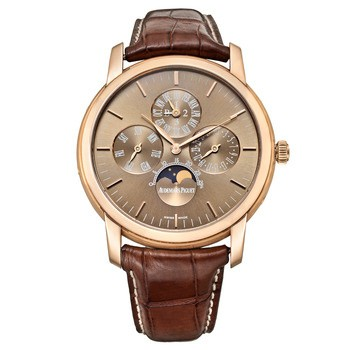 Audemars Piguet Jules Audemars Perpetual Calendar (RG / chocolate brown / Leather)