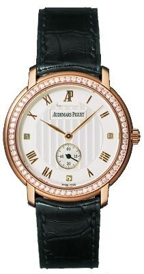 Audemars Piguet Jules Audemars Small Seconds (RG-Diamonds / Silver / Leather)