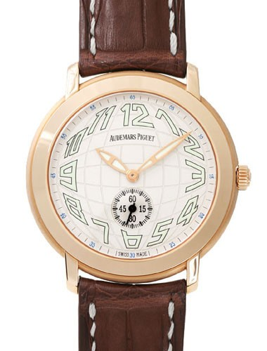 Audemars Piguet Jules Audemars Small Seconds (RG / Silver / Leather) 15056OR.OO.A067CR.02