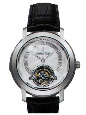 Audemars Piguet Jules Audemars Tourbillon Minute Repeater (WG / Silver / Leather)