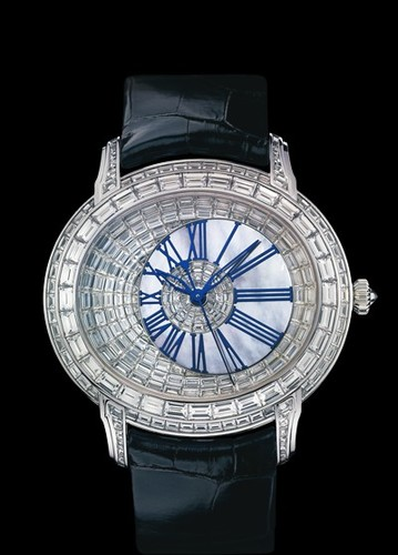 Audemars Piguet Millenary Baguette-Cut Diamonds (WG-MOP-Leather)