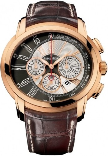 Audemars Piguet Millenary Chronograph (PG / Silver-Anthracite / Leather Strap)