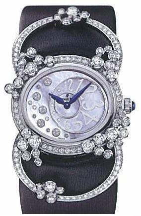 Audemars Piguet Millenary Lady (WG-Diamonds / Black-Diamonds / Satin Strap)