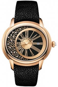 Audemars Piguet Millenary Marita (RG / Black / Leather Strap)