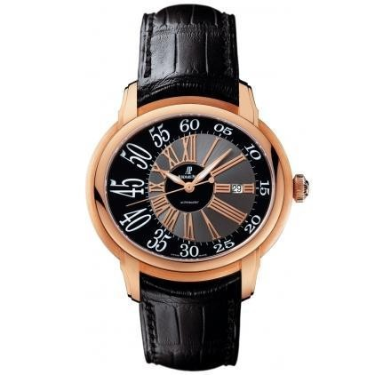 Audemars Piguet Millenary Novelty Automatic (RG / Black / Leather) 15320OR.OO.D002CR.01