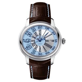 Audemars Piguet Millenary Novelty Automatic (WG / Light Blue / Leather)