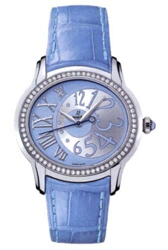 Audemars Piguet Millenary Novelty Ladies (Steel / Light Blue / Leather)