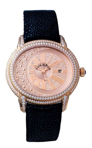 Audemars Piguet Millenary (RG-Diamonds / RG-Diamonds / Leather Strap)