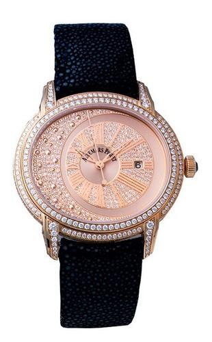Audemars Piguet Millenary (RG-Diamonds / RG-Diamonds / Leather Strap)