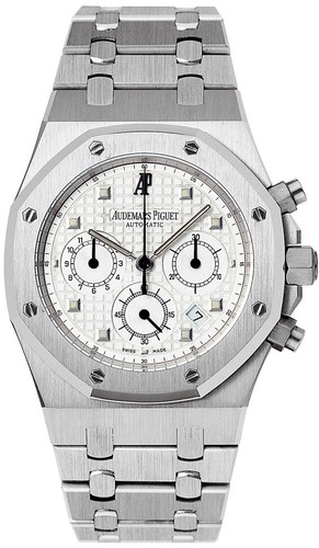 Audemars Piguet Royal Oak Chronograph ( WG / Silver / WG Bracelet)