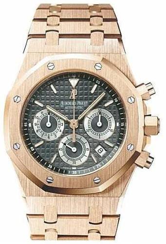 Audemars Piguet Royal Oak Chronograph (RG / Black / RG Bracelet)