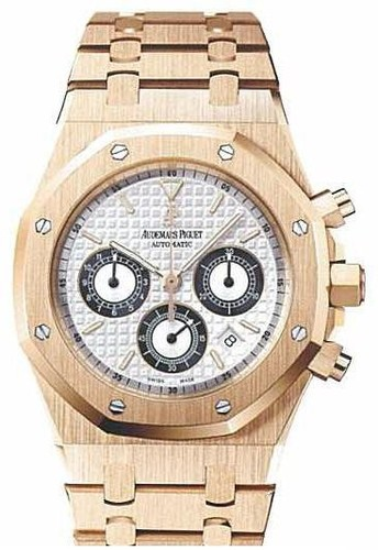 Audemars Piguet Royal Oak Chronograph (RG / Silver-Black / RG)