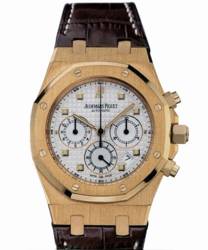 Audemars Piguet Royal Oak Chronograph (RG / Silver / Leather)