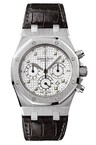 Audemars Piguet Royal Oak Chronograph (WG / White / Leather)