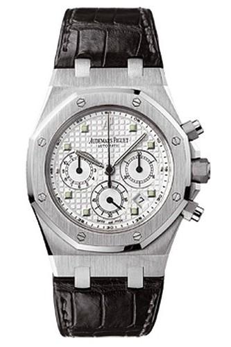 Audemars Piguet Royal Oak Chronograph (WG / White / Leather)