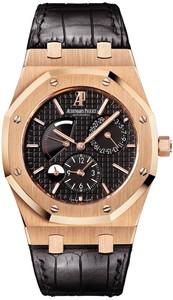 Audemars Piguet Royal Oak Dual Time (PG / Black / Leather)