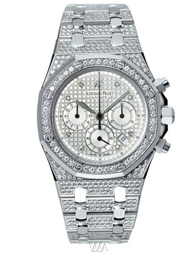 Audemars Piguet Royal Oak Jeweled Chronograph (WG / Diamonds / WG-Diamonds)