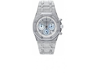 Audemars Piguet Royal Oak Jeweled Chronograph (WG / Full Diamonds)
