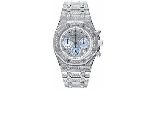 Audemars Piguet Royal Oak Jeweled Chronograph (WG / Full Diamonds)