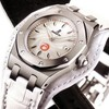 Audemars Piguet Royal Oak Ladies Alinghi (SS / Silver / White Leather)