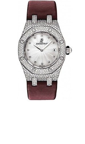 Audemars Piguet Royal Oak Ladies Pave (WG / Diamonds / Red Strap)