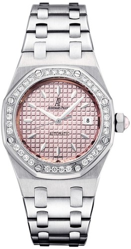 Audemars Piguet Royal Oak Ladies (SS-Diamonds / Pink / SS / Automatic)