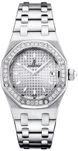 Audemars Piguet Royal Oak Ladies (SS-Diamonds / Silver / SS Bracelet)