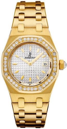 Audemars Piguet Royal Oak Lady Quartz (YG / Silver / YG Bracelet)