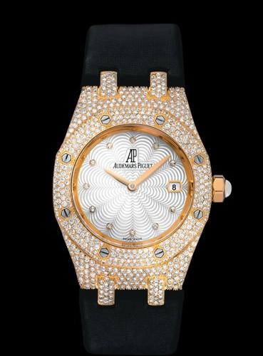 Audemars Piguet Royal Oak Lady (RG-Diamond / Silver / Satin)