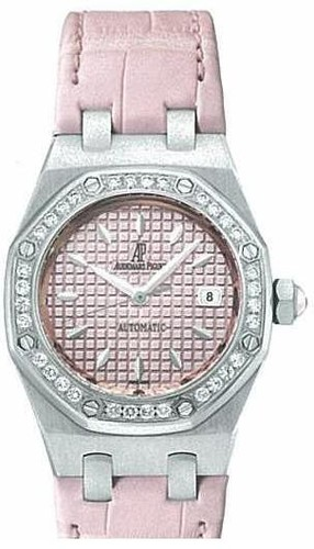 Audemars Piguet Royal Oak Lady (SS / Pink / Leather)