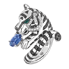Boucheron Bagha, the tiger ring Blue sapphire