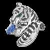 Boucheron Bagha, the tiger ring Blue sapphire