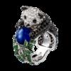 Boucheron Panda Ring Blue sapphire