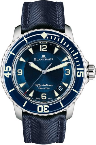Blancpain Fifty Fathoms Automatic (WG / Blue)