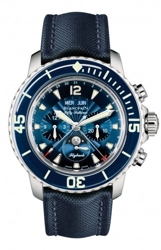 Blancpain Fifty Fathoms Complete Calendar Flyback Chrongraph (SS / Blue / Leather Strap)