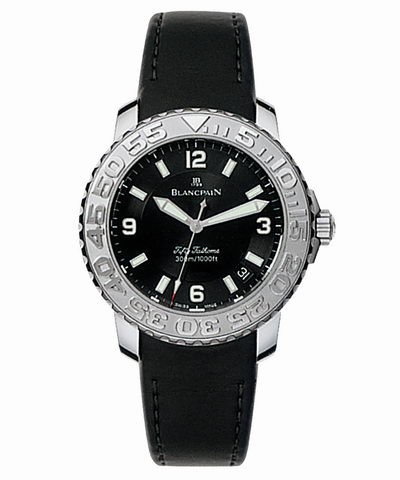 Blancpain Fifty Fathoms Diver (Steel / Black / Rubber)