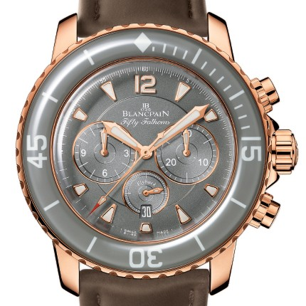 Blancpain Flyback Chronograph Fifty Fathoms Sport (RG / Grey / Rubber)