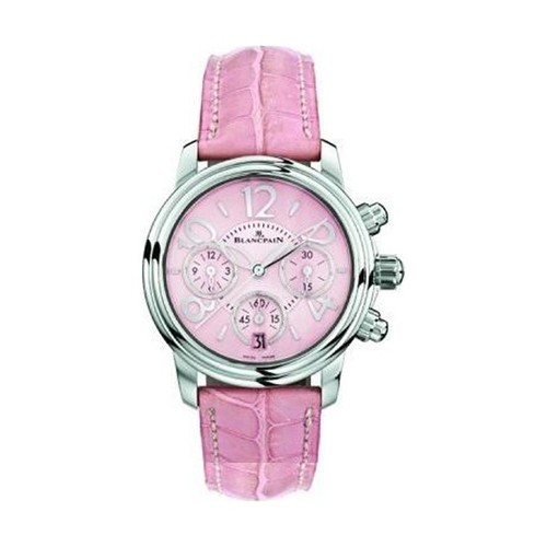 Blancpain Flyback chronograph Ladies (SS/Pink/Leather strap)