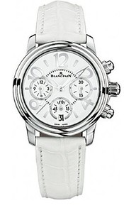 Blancpain Flyback chronograph Ladies (SS/White/Leather strap)