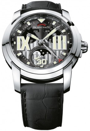 Blancpain L-evolution 8 Jours Moone Phase (SS/Silver/Leather strap)
