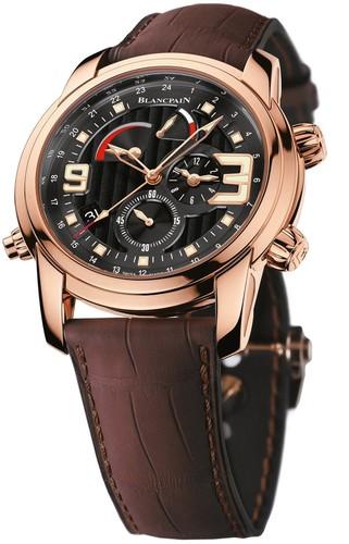 Blancpain L-evolution Alarm GMT (RG/Black/Leather Strap)