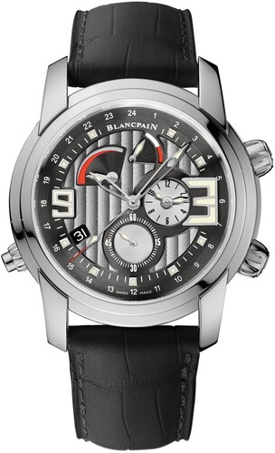 Blancpain L-evolution Alarm GMT (SS/Silver/Leather Strap)