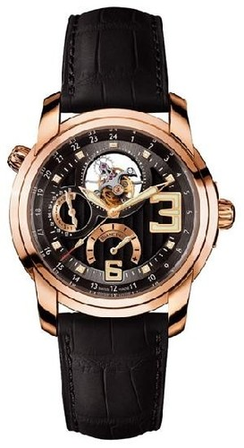 Blancpain L-evolution GMT Tourbillon (RG/Black/Leather strap)