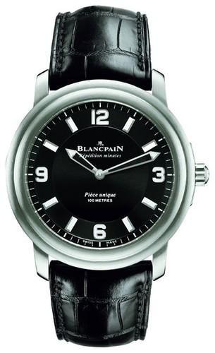 Blancpain Leman Aqua Lung Minute Repeater (Ti / Black / Leather)