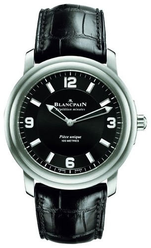 Blancpain Leman Aqua Lung Minute Repeater (Ti / Black / Leather)