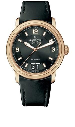 Blancpain Leman Big Date Automatic (RG / Black / Rubber)