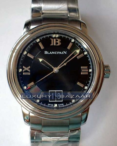 Blancpain Leman Big Date Central Seconds (SS / Black / SS)