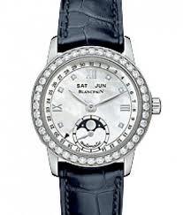 Blancpain Leman Complete Calendar Ladies (SS / MOP / Diamonds / Leather)
