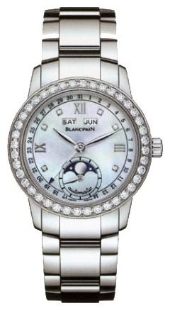 Blancpain Leman Complete Calendar Ladies (Steel / White / Diamonds)